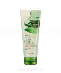 Sữa rửa mặt dạng gel mềm mịn da Jeju Aloe Fresh Soothing Foam Cleanser The Face Shop (150ml)